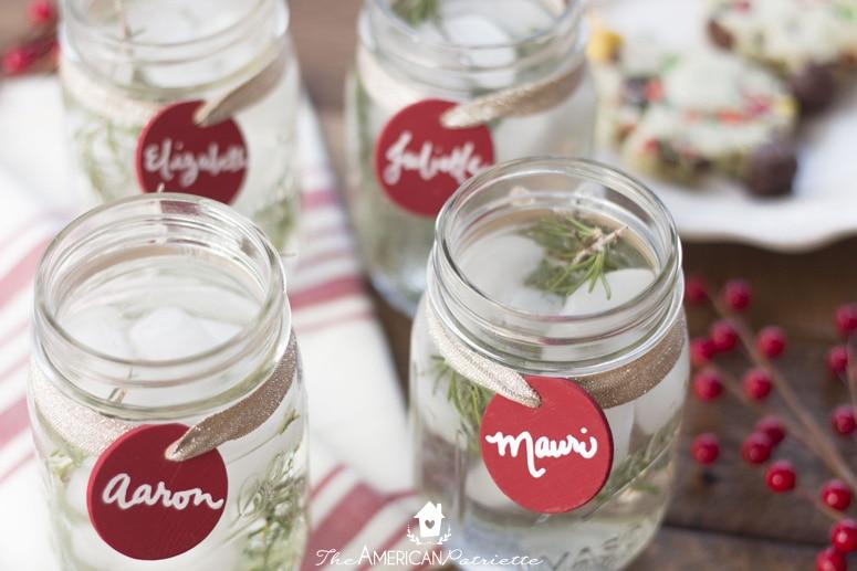 Reusable Chalkboard Mason Jar Drink Labels - Christmas