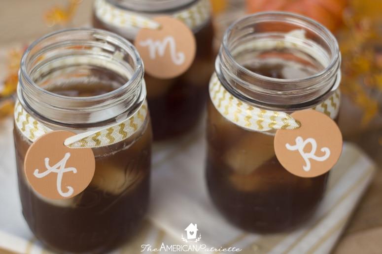 Reusable Chalkboard Mason Jar Drink Labels - Fall, Thanksgiving
