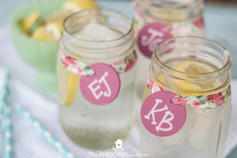 Reusable Chalkboard Mason Jar Drink Labels - Spring, Baby Shower, Bridal Shower