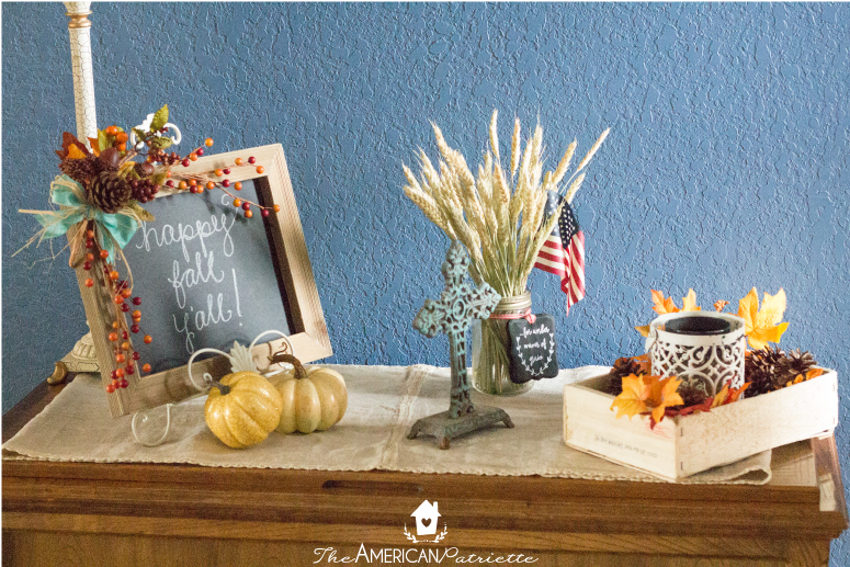 welcoming fall entryway table