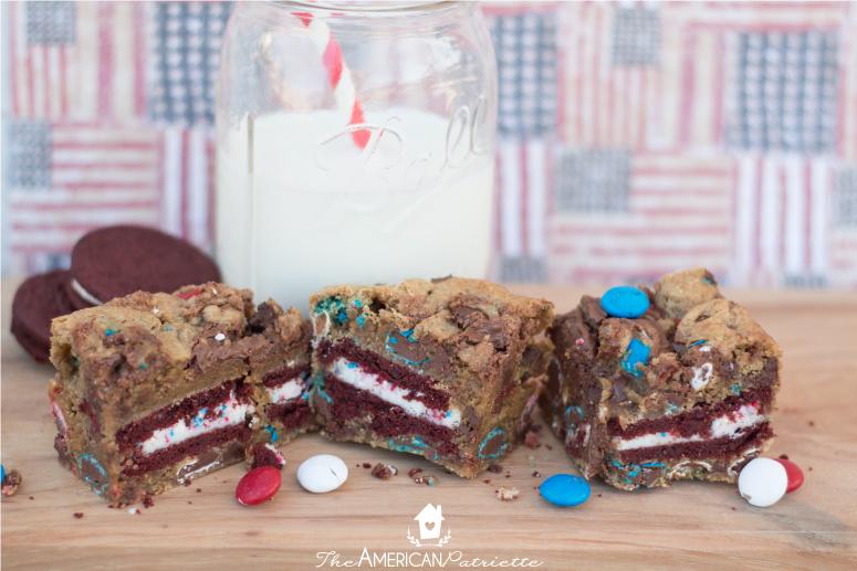 Election Day Brownies (Patriotic Red Velvet Oreo & Nutella Blonde Brownies)