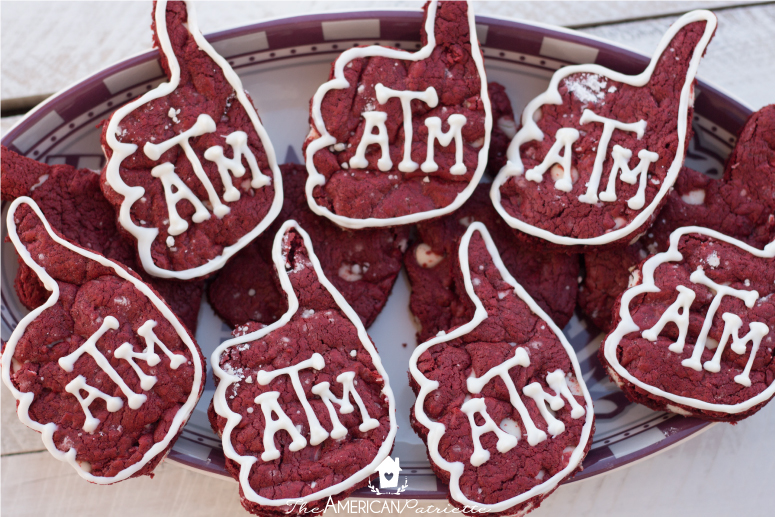 Red Velvet Texas A&M Aggie Cookies