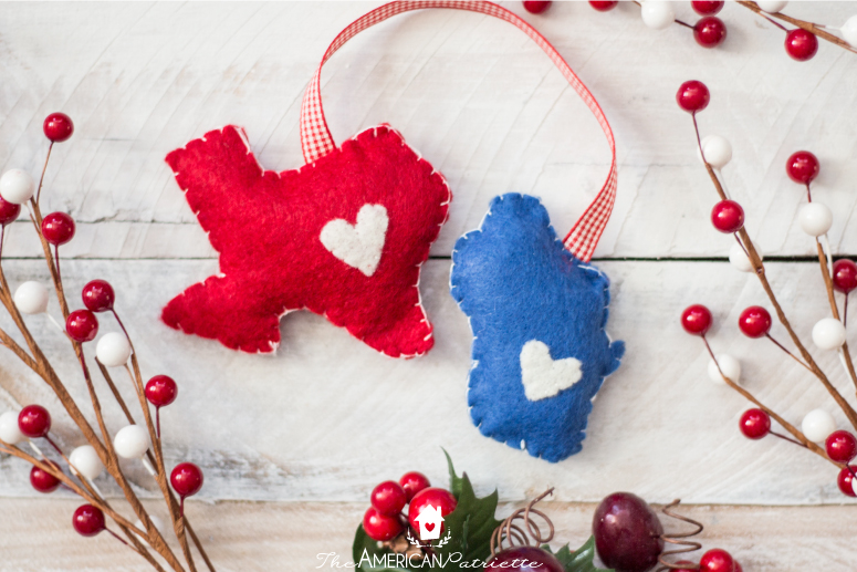diy home state felt christmas ornament easy inexpensive budget friendly sentimental