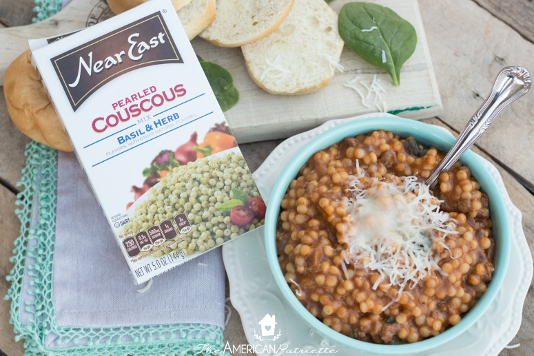 Frog Eye (Pearled Couscous) Soup