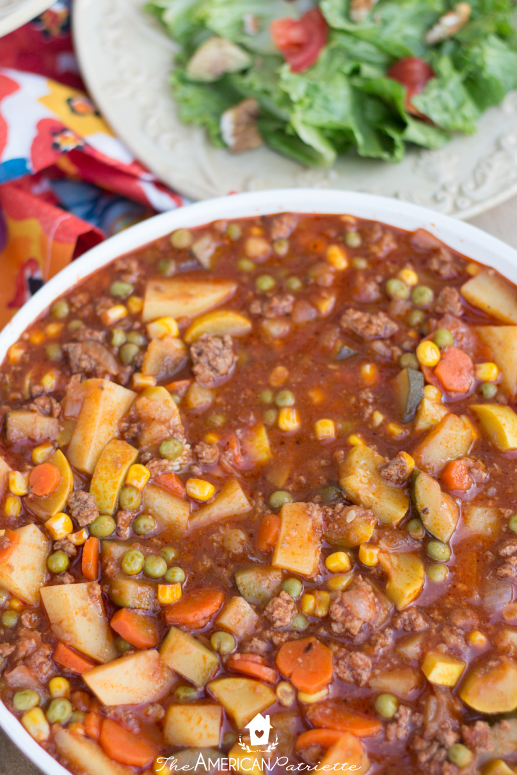 Shepherd's Pie Soup - a hearty and flavorful soup full of protein, flavor, and vegetables! - 35 Creative Potluck Themes