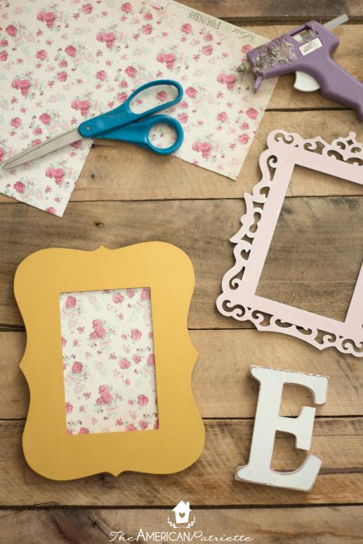 DIY Framed Monogram Sign - The American Patriette