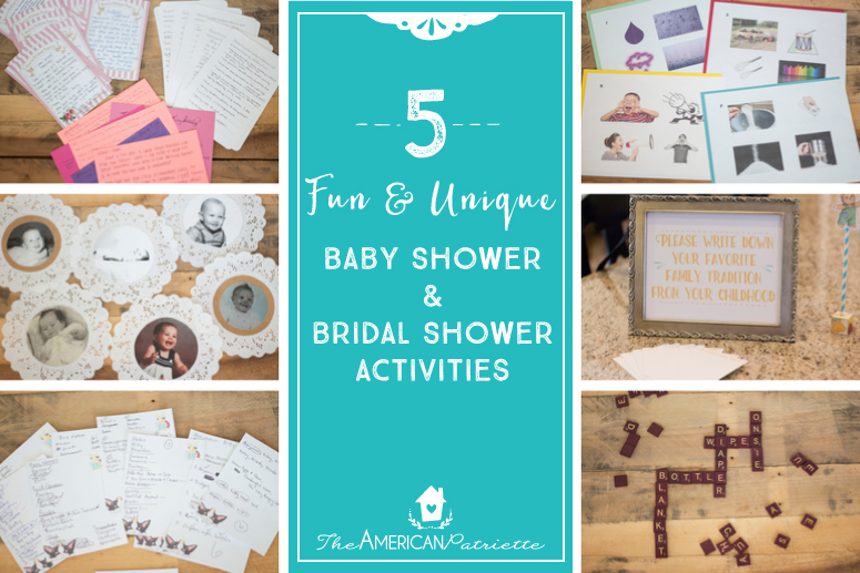 Fun And Unique Baby Shower And Bridal Shower Activities The