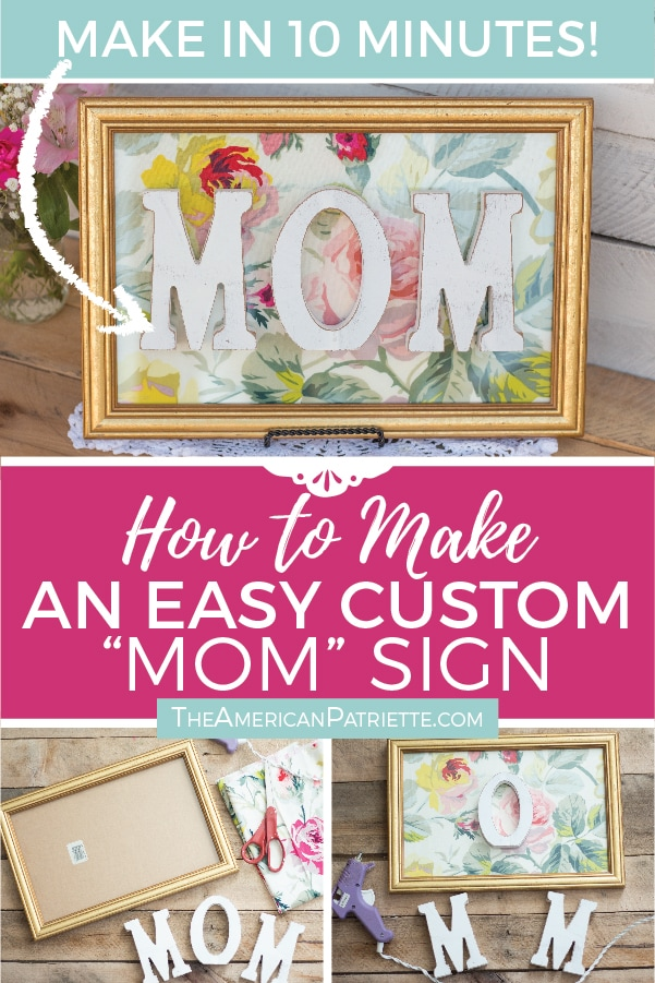Diy Mother S Day Gift Mom Sign Artboard 6 The American Patriette