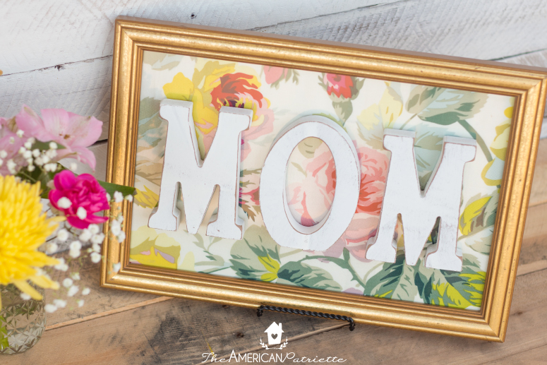 DIY Framed Floral Mom Sign