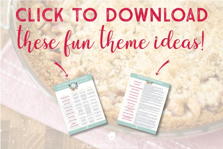Fun Family Dinner Theme Ideas
