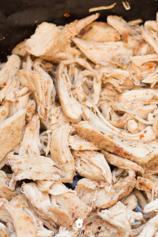 Easy Slow Cooker Shredded Chicken - The easiest way to prepare chicken for any casserole, tacos, salad, or soup!