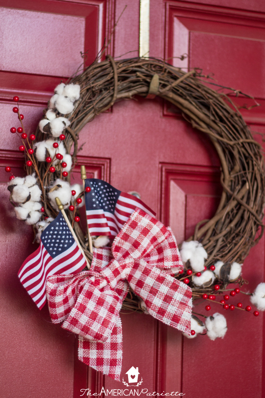 DIY Farmhouse American Flag Wreath