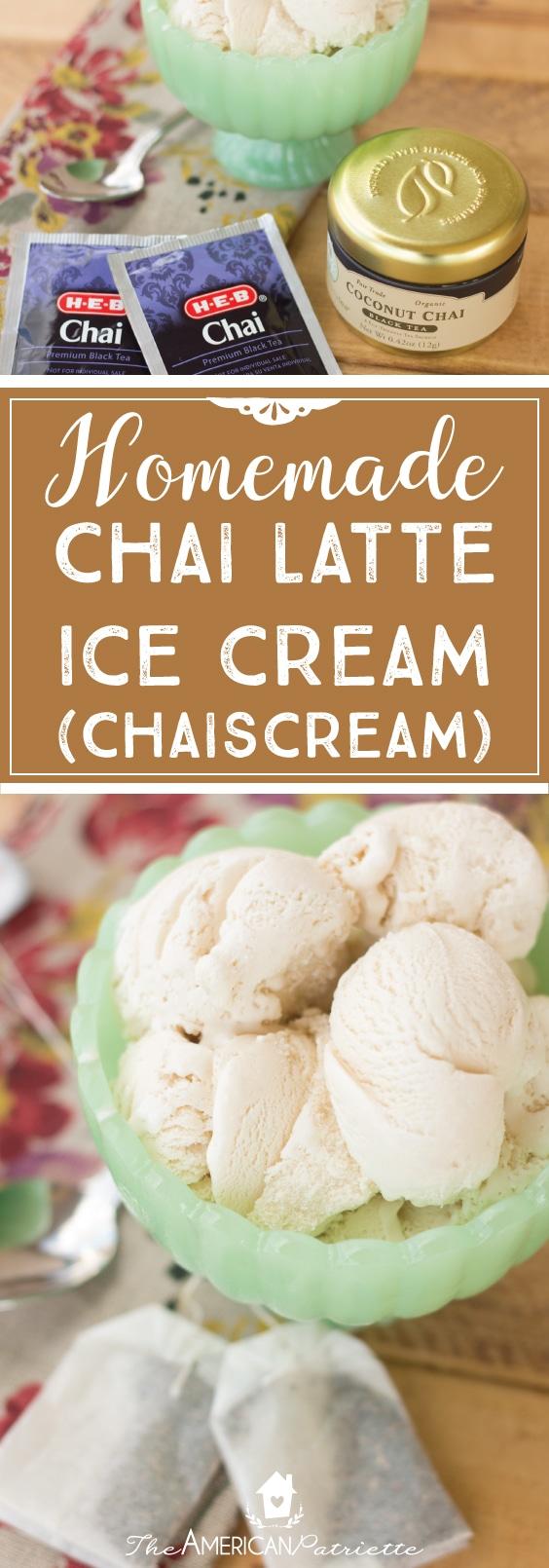 Vanilla Chaiscream (Homemade Vanilla Chai Ice Cream) - delicious take on a chai latte!