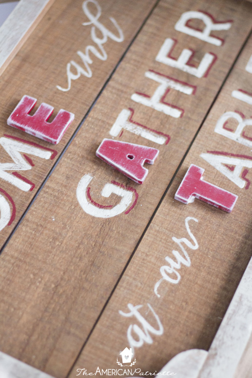 Rustic Country Farmhouse Kitchen Gather Sign - Come and Gather at our Table Sign