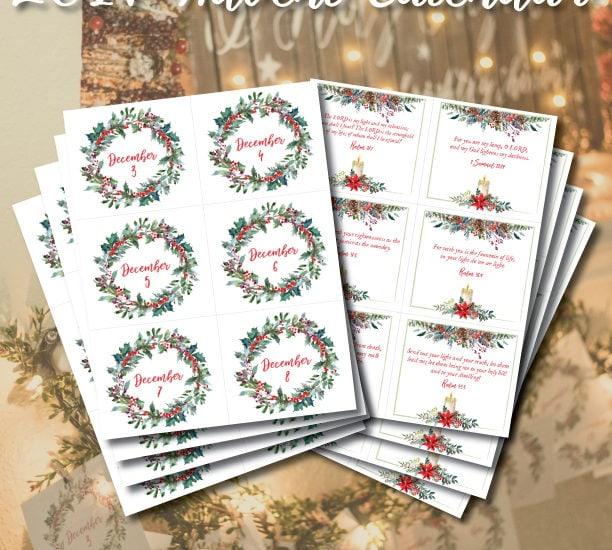 Free Printable 2017 Advent Calendar