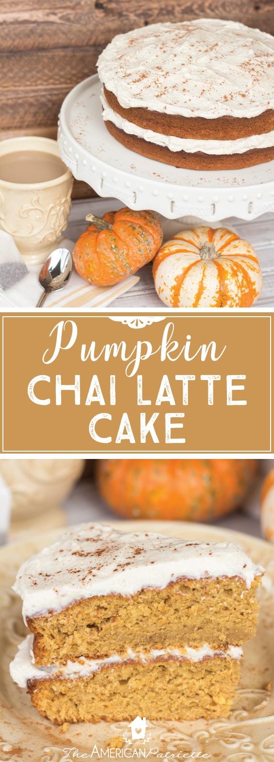 Pumpkin Chai Latte Cake