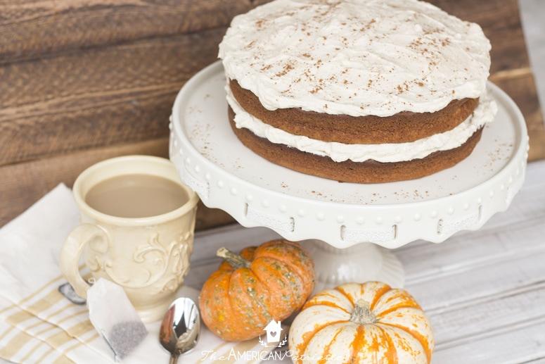 Pumpkin Chai Latte Cake - Delicious take on a favorite cozy fall drink!