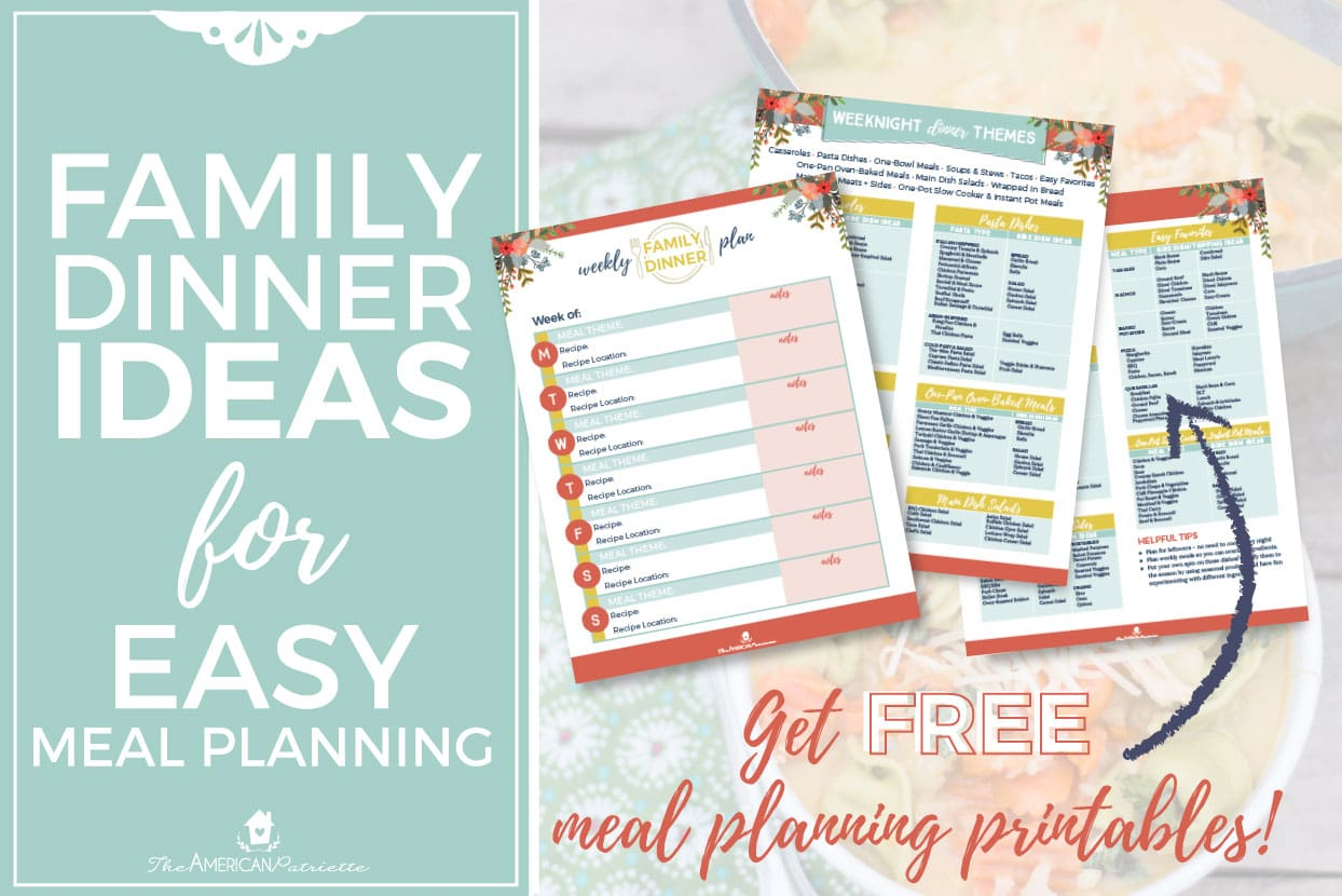 free weekly meal planning printables with tons of easy and healthy