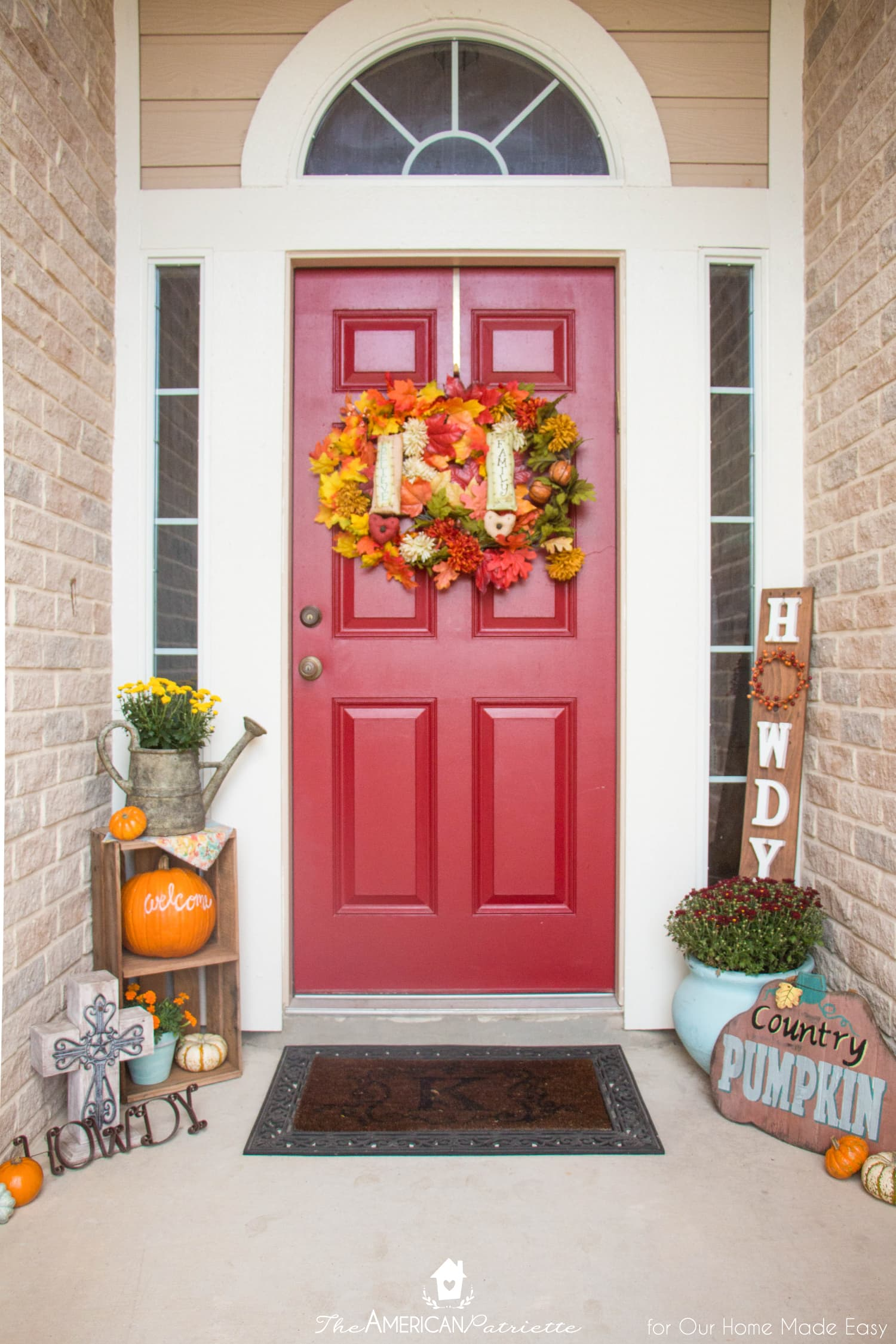 6 Easy Ways To Decorate Your Front Porch With Color • Our Home Made Easy