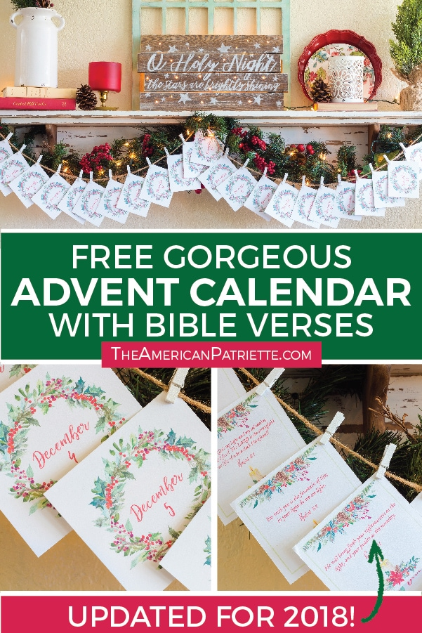 Free Printable Advent Calendar With Scriptures The American Patriette