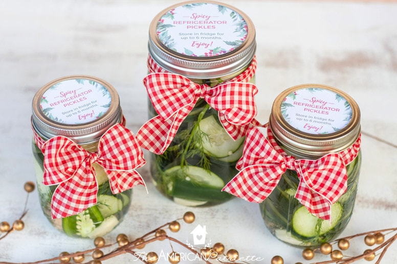 Easy Homemade Pickles for Christmas Gifts - The American Patriette