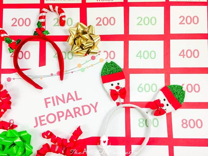 Christmas Jeopardy.Christmas Jeopardy Set Up 18 The American Patriette