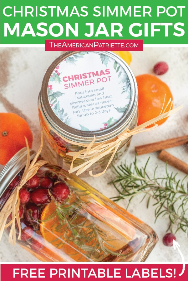 Easy Diy Christmas Simmer Pot Mason Jar Gifts