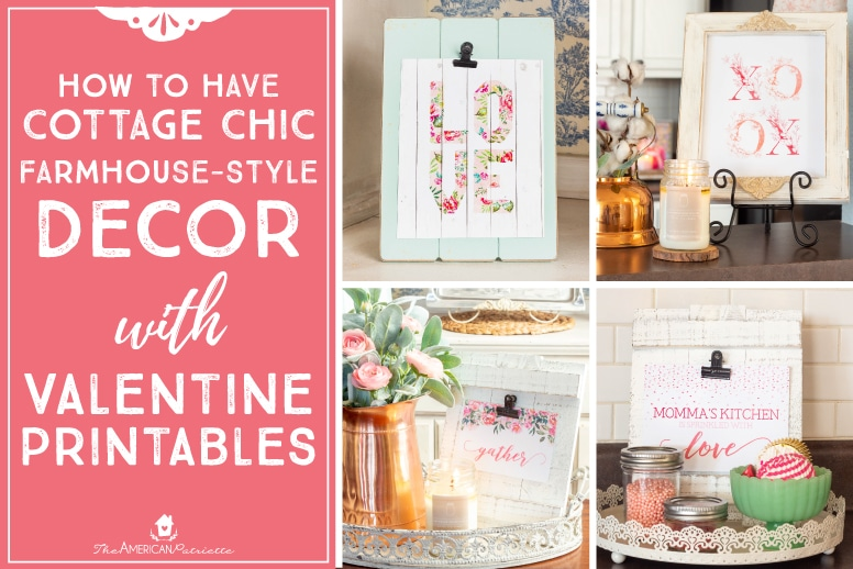 Cottage Chic Farmhouse-Inspired Valentine\'s Decor Ideas with ...