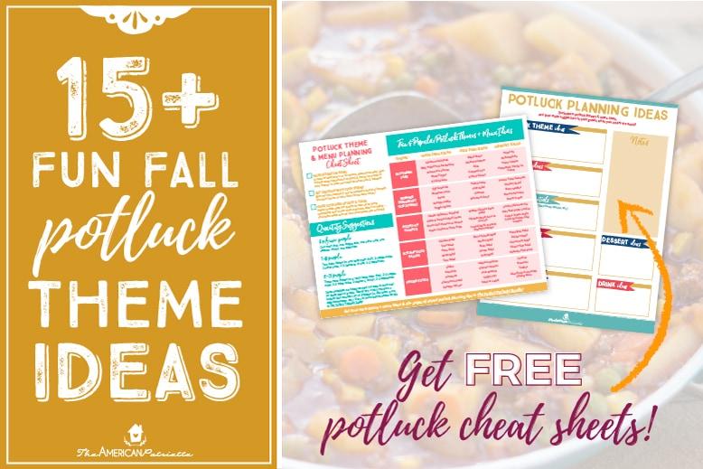 15 Fun Fall Potluck Theme Ideas Free Potluck Printables