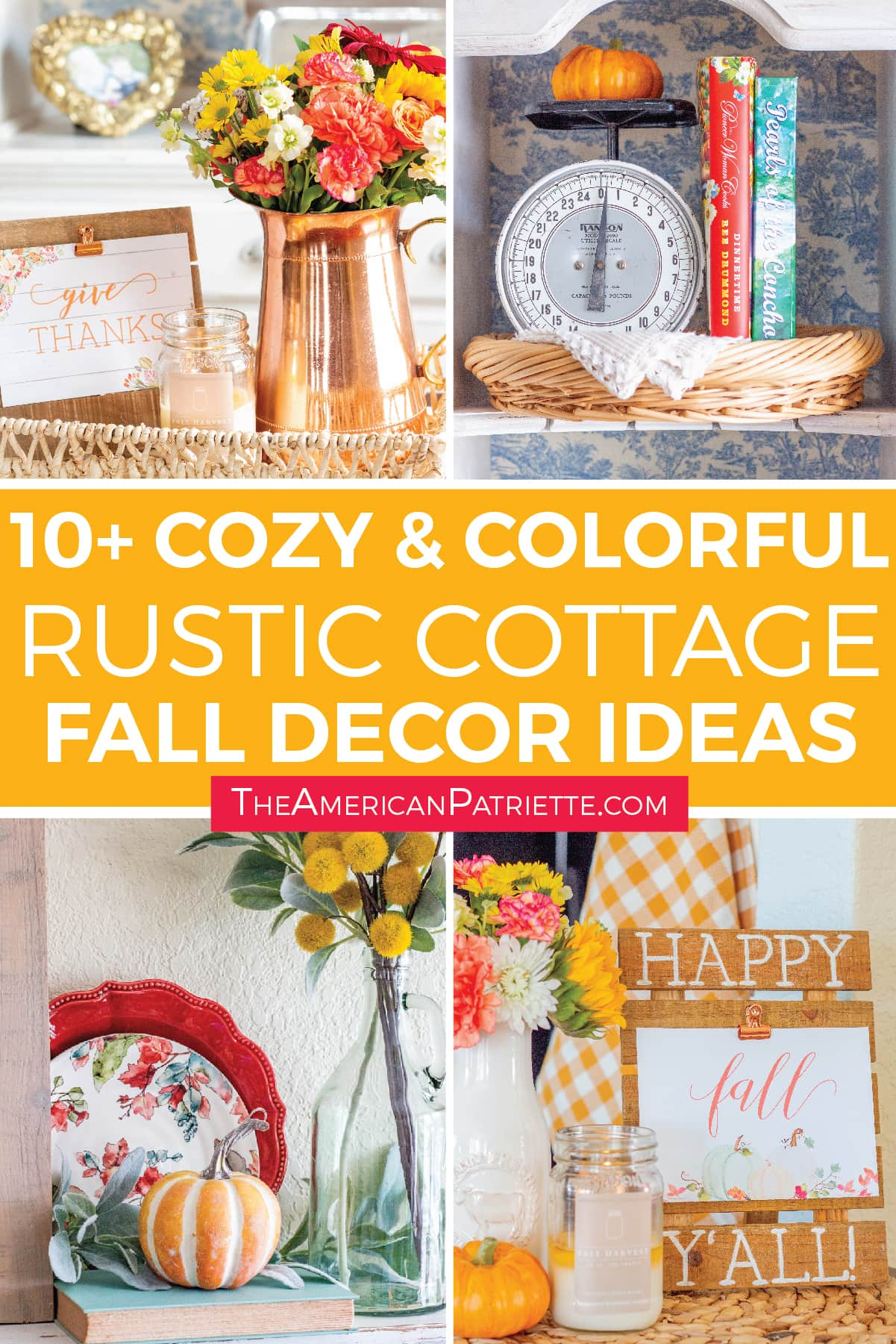 Colorful Rustic Farmhouse Fall Decor Ideas The American