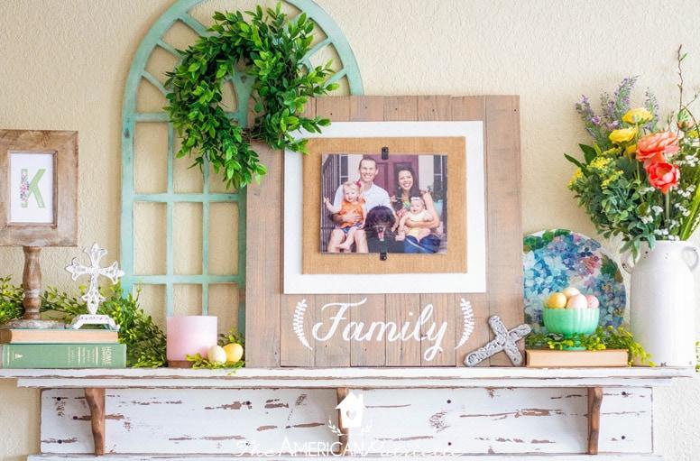 Easy Spring Farmhouse Mantel Decorating, Decorating Fireplace Mantel Farmhouse Style